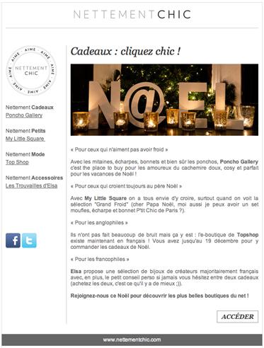 newsletter noel Newsletter Noël   Shop online   NETTEMENT CHIC newsletter noel